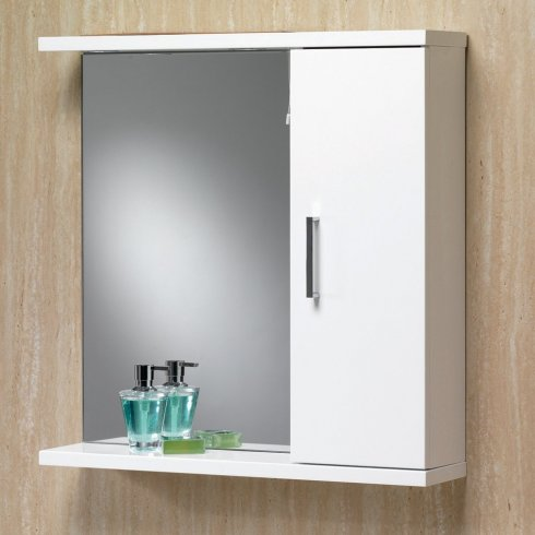 Qualitex - Genesis Richmond Mirror with Cabinet, Shelf & Light - 650mm to 1050mm