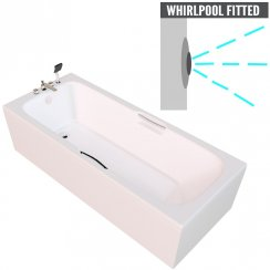 Virginia Twin Gripped Bath with Option 2 Whirlpool