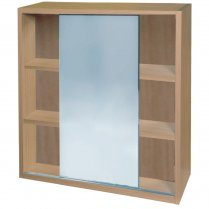 Sliding Mirrored Wall Cabinet