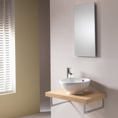 Qualitex - Q-Line Vanity Top with Chrome Supports