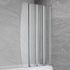 4-Fold Bath Screen - 1400 x 850mm