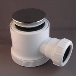 50mm Chrome Shower Trap with Dome