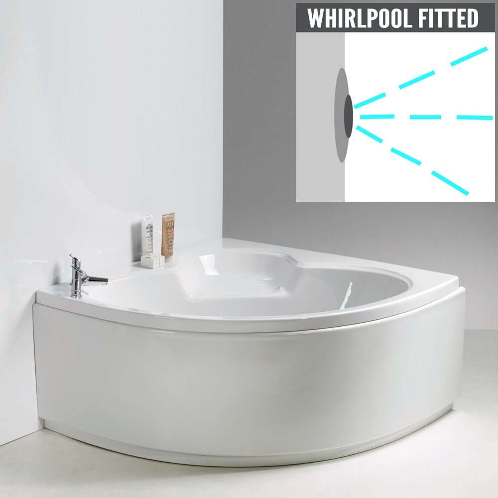 Qualitex - QX Casper Corner Bath with Option 3 Whirlpool - Qualitex ...