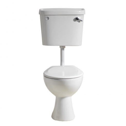 Qualitex - QX Ebony Low Level Lever WC including Soft Close Seat