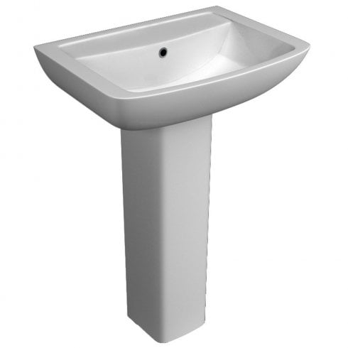 Qualitex - QX Eden 550 x 415mm Basin & Pedestal