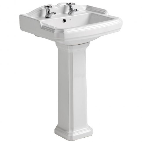 Qualitex - QX Legend 580 x 470mm Basin & Pedestal
