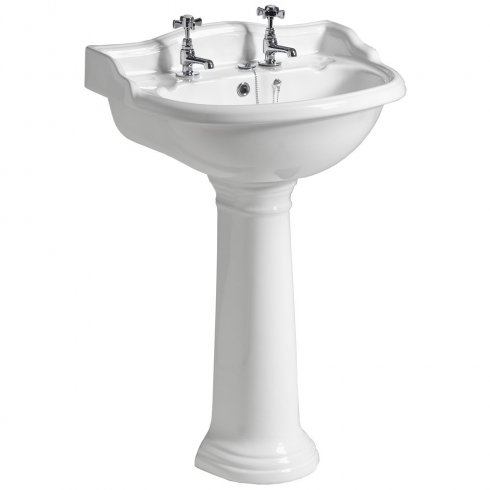 Qualitex - QX Mirabelle Cottage 600 x 495mm Basin & Pedestal