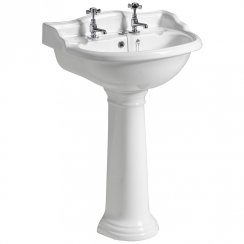 Mirabelle Cottage 600 x 495mm Basin & Pedestal