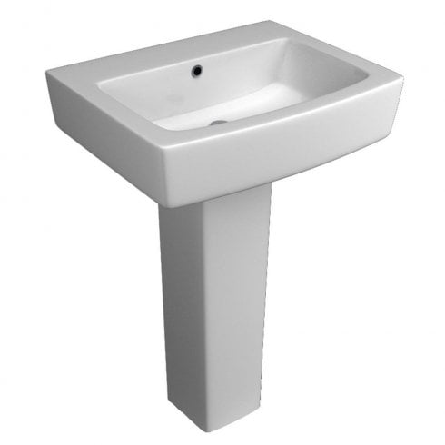 Qualitex - QX Montana 550 x 433mm Basin & Pedestal