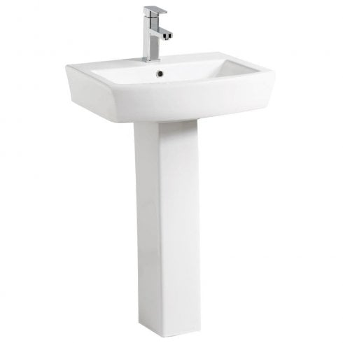 Qualitex - QX Utah 560 x 450mm Basin & Pedestal