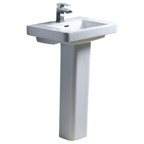 Qualitex - QX Vermont 580 x 405mm Basin & Pedestal