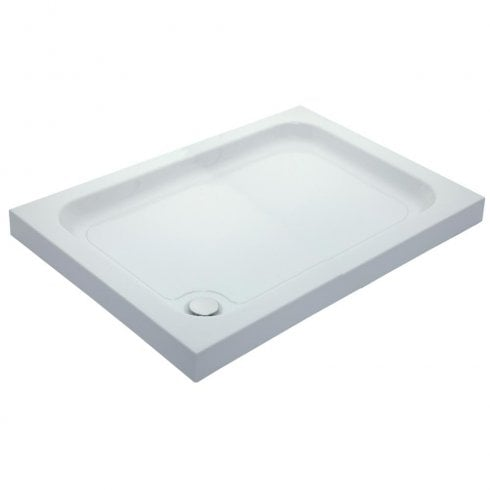 QX 80mm Universal Cast Stone Rectangular Shower Trays