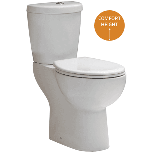 QX Comfort Elevated WC including Soft Close Seat