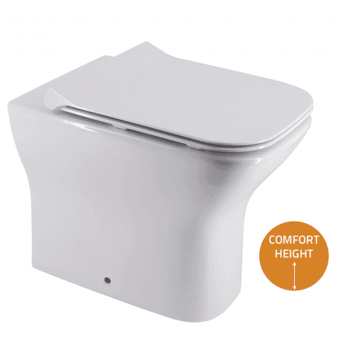 QX Cornell Comfort Rimless Back-to-Wall Pan & Soft Close Seat