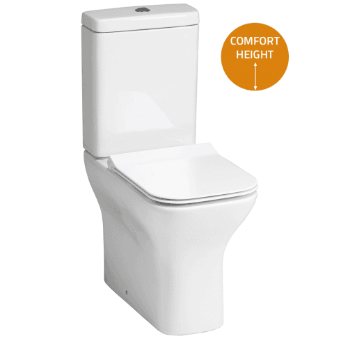 QX Cornell Elevated WC including Soft Close Seat
