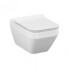 Crea Square Rimless Wall-Hung Pan & Soft Close Seat