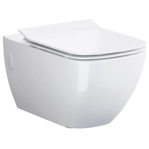 QX Metropolitan Rimless Wall-Hung Pan & Soft Close Seat