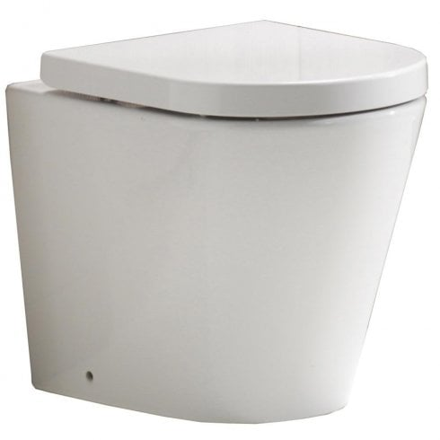 QX Opal Rimless Back-to-Wall Pan & Soft Close Seat