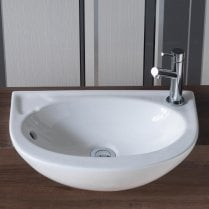 Opal Slim 450 x 305mm Semi-Recessed Basin