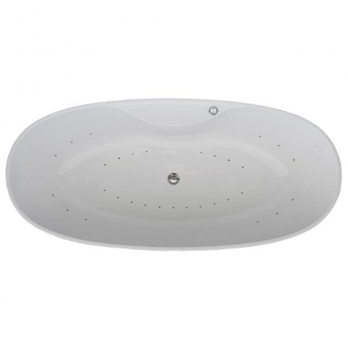 QX Oregon Freestanding Bath with Option 4 Whisper Airspa - 1850 x 850mm