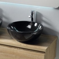 Parma 430 x 430mm Black Vanity Basin
