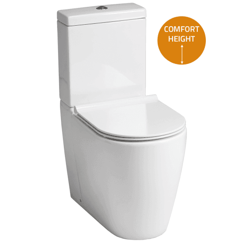 QX Roma Elevated WC including Soft Close Seat
