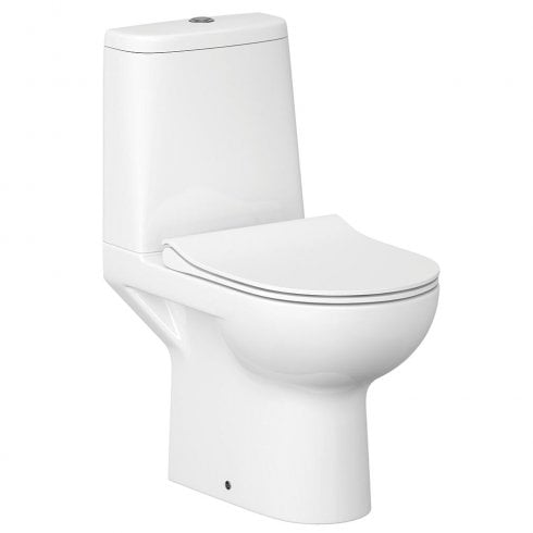 QX Street Fusion Rimless WC including Soft Close Seat