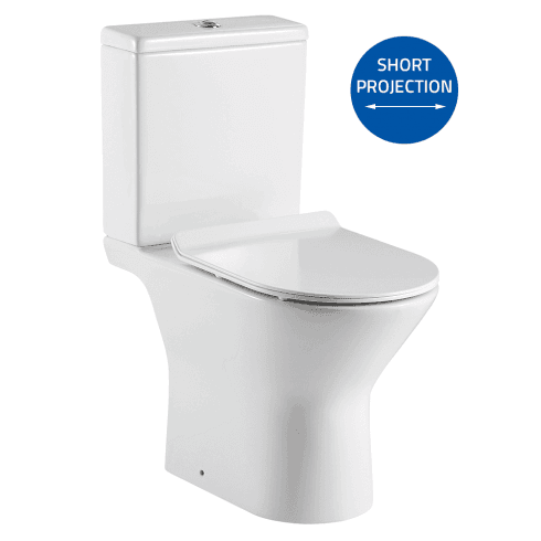 QX Venice Rimless Open Sided WC including Soft Close Seat