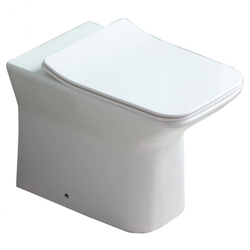 QX Verona Rimless Back-to-Wall Pan & Soft Close Seat