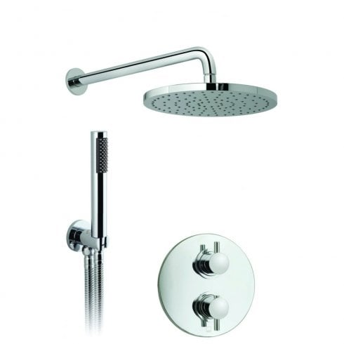 Vado Celsius Concealed 2 Outlet Thermostatic Valve with Head and arm & Mini Shower Kit  (WG-CELBOX/4-C/P)