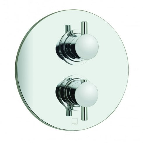 Vado Celsius Round 1 Outlet 2 Handle Concealed Thermostatic Shower Valve  (CEL-148C/RO-3/4-C/P)