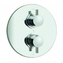 Celsius Round 3 Outlet 2 Handle Thermostatic Shower Valve  (CEL-148C/3/RO-C/P)