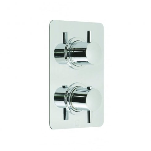 Vado Celsius Square 3 Outlet 2 Handle Thermostatic Shower Valve  (CEL-148C/3/SQ-C/P)