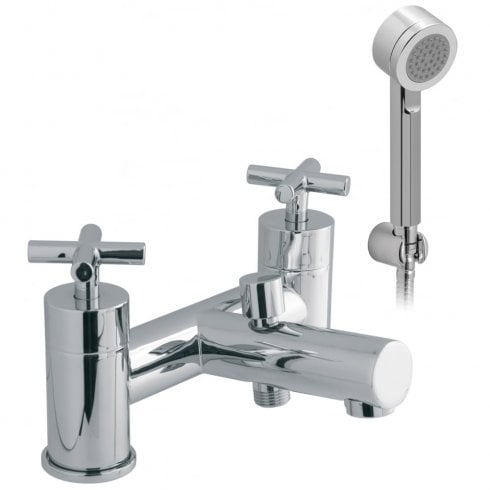 Vado Elements Water 2 Hole Bath Shower Mixer with Shower Kit  (ELW-130+K-C/P)