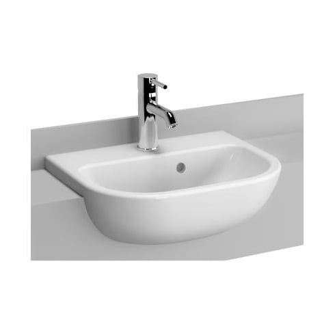 Vitra S20 - Semi-recessed basin, 45cm