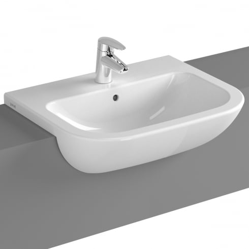 Vitra S20 - Semi-recessed basin 55cm (1TH/2TH)