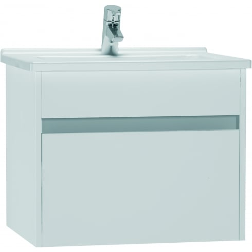 Vitra S50 - High gloss white washbasin unit, 60cm (including 5407 basin)
