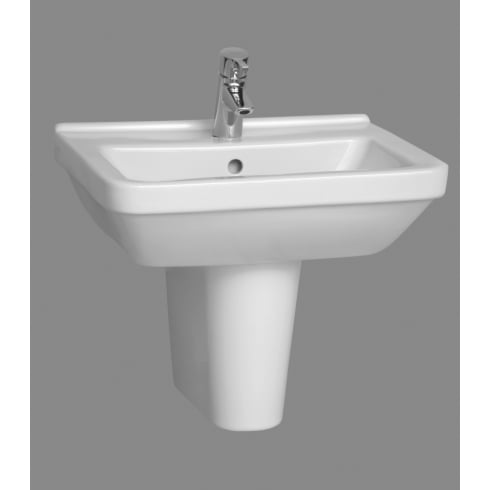 Vitra S50 - Square washbasin, 55cm